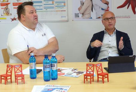 Von links: Johannes Scherm und Joachim Lörzer im Gespräch mit der XXXLife-Redaktion. (Fotos: JVI).