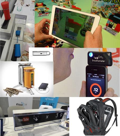 Wink, Lego Sac à dos connecté AMPL Labs, BioLite, Breathometer, Flap It