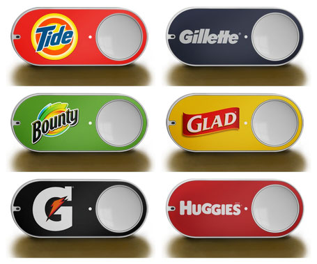 Amazon Dash Huggies Gillette Tide - Button connecté - bouton connecté