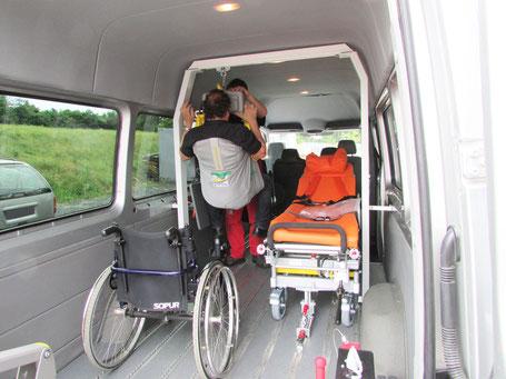 Deckenlifter zum Positionieren von Patienten, Sonderumbau, Sodermanns