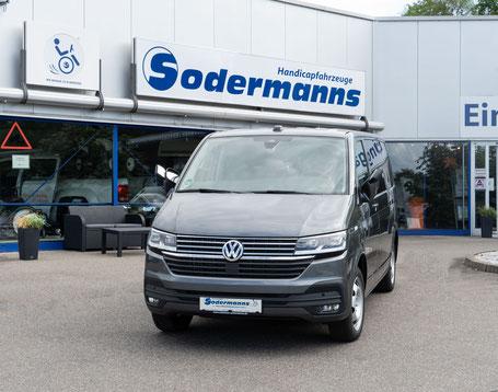 Volkswagen T6.1 Selbstfahrerumbau Hecklift Space Drive Minilenkrad Gas Bremsschieber Sodermanns