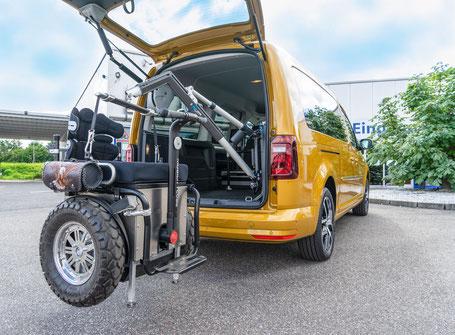 Verladesystem Scooter Rollstühle e fix Rollatoren sodermanns
