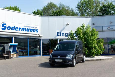 Volkswagen Caddy Selbstfahrerumbau, Rolliverladesystem, GB-Schieber, MFD, Rutschbrett, orth. Sitz, Sodermanns