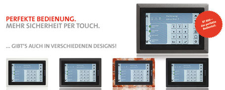 Telenot Touchbedienfeld 800aP / 801 uP, presented by SafeTech