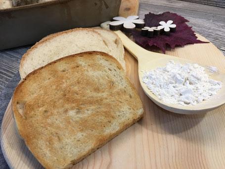 Toastbrot fertig getostet und angerichtet