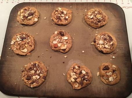 Cookies vor dem backen auf dem Zauberstein