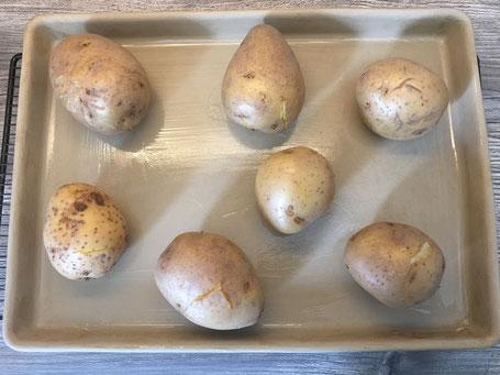 Kartoffeln auf dem großen Ofenzauberer
