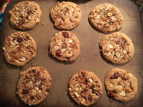 Cookies nach dem backen auf dem Zauberstein