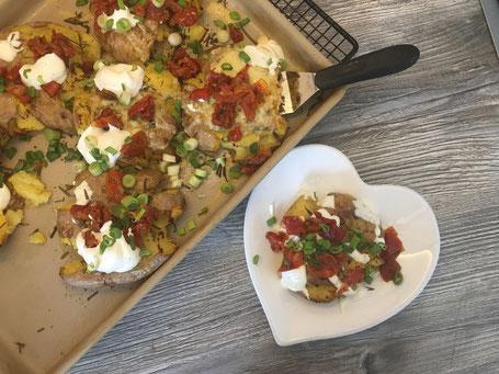 Knusprige Ofen- Quetsch- Kartoffeln vom großen Ofenzauberer von Pampered Chef