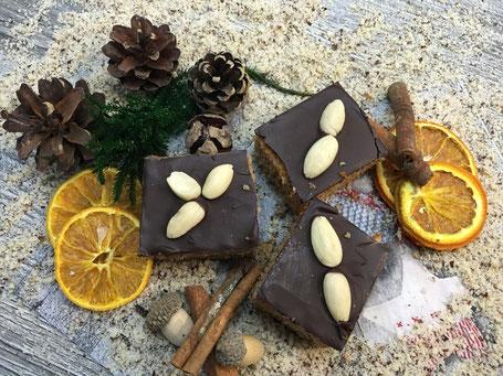 Lebkuchen mit Schokolade überzogen