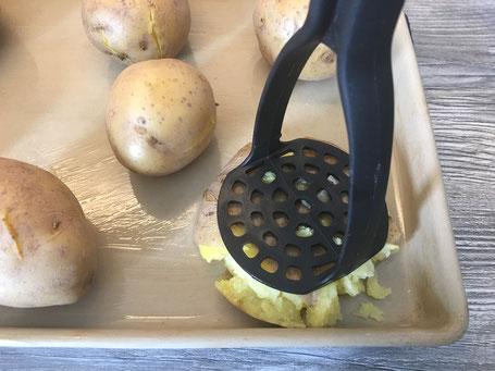 Kartoffeln zerdrückt auf dem Ofenzauberer