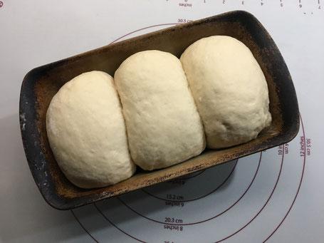 Toastbrot kurz vor dem backen im Zauberkasten von Pampered Chef
