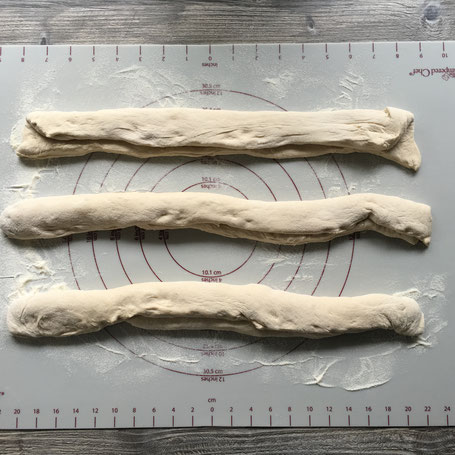 Baguette vor dem backen, Pampered Chef