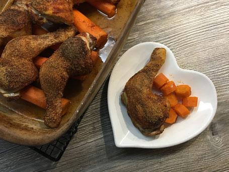 Hähnchenschenkel aus der Ofenhexe von Pampered Chef