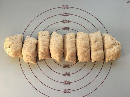 Brötchen auf Backmatte von Pampered Chef