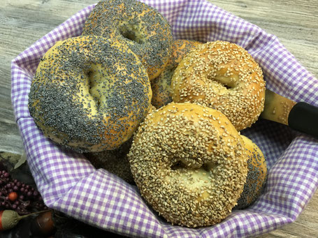 Bagels nach dem backen