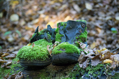 Vergessener Schuh -  Herren Boot schwarz Rindsleder , Gummisohle ohne Weichmacher