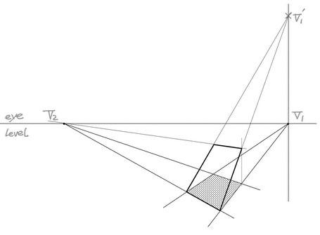 2点パースによる傾斜作画④