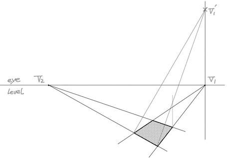 2点パースによる傾斜作画③