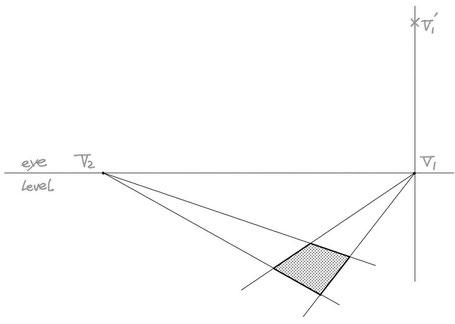 2点パースによる傾斜作画②