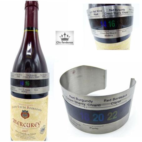 thermometre à vin en inox cadeau pour homme