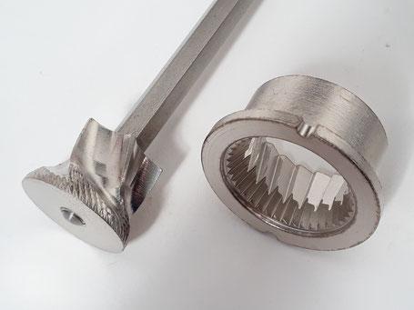 kein Peugeot Mahlwerk - sondern gehärtetes Stahlmahlwerk in höchster Qualität für Pfeffermühlen von Beständig Design
