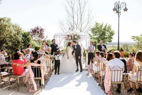 French Wedding in south of France Wedding Planner and Wedding Designer HH Créations