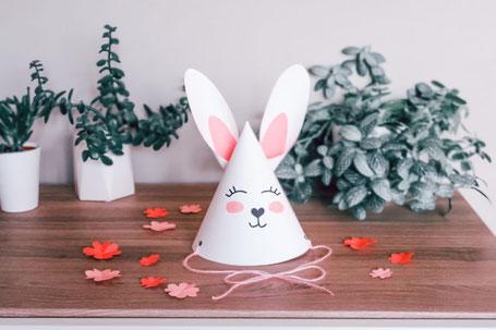 cette image représente un DIY pour réaliser un lapin en papier