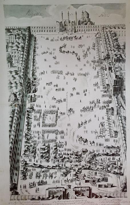 Meidan Eman plein in Isfahan rond 1640