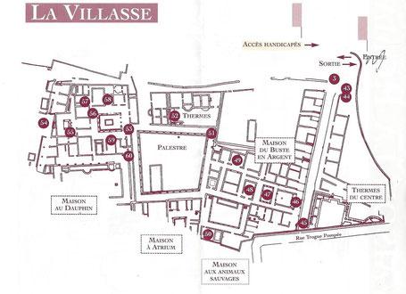 Bild: Plan des Quartier La Villasse in Vaison-la-Romaine