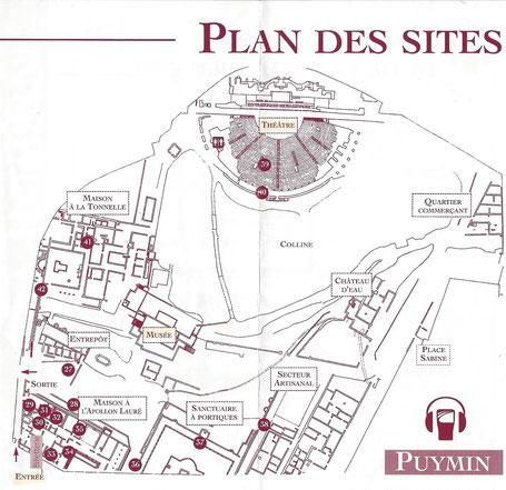Bild: Plan des Quartier de Puymin in Vaison-la-Romaine