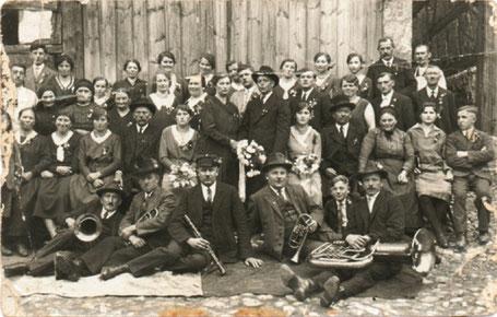 Abb. 4: Hochzeit Blos, vor dem 2. Weltkrieg.