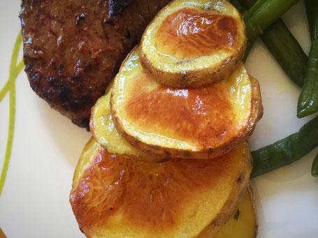 Kartoffel Scheiben mit Zitronen-Olivenöl