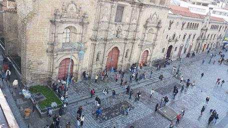 Eglise San Francisco, La Paz, Bolivie (vue plongeante)