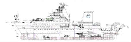 R/V Sonne is the largest and most modern German research vessel.