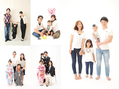 家族写真 七五三 誕生日 節句