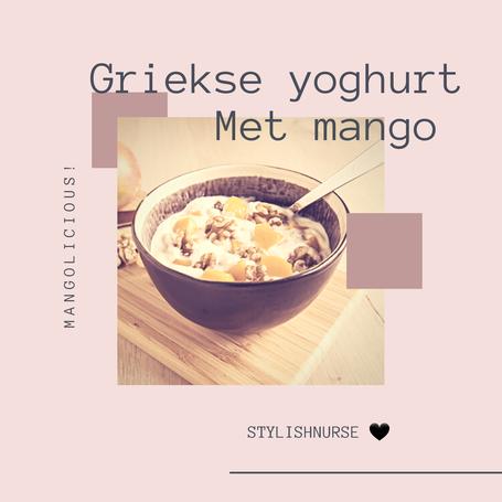 Griekse yoghurt met mango