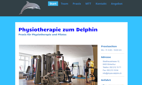 Homepage Physiotherapie Praxis