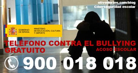 Telefono gratuito acoso escolar bullying España