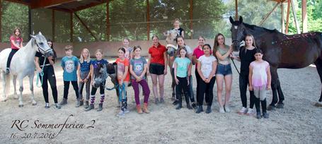 Die Teilnehmer des RC-Ferienkurses 2 mit ihren Teamleitern.
