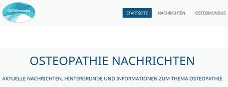 Aktuelle Nachrichten, Hintergrunde und Informationen zum Thema Osteopathie - OSTEOmundus - Osteopathie Weltweit