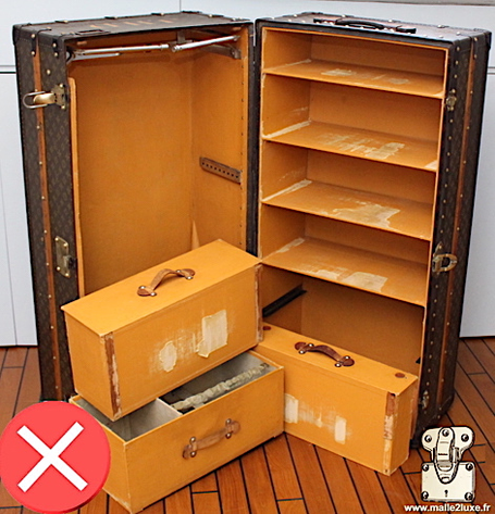 used trunk louis vuitton very old wardrobe