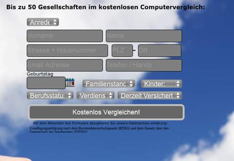 Screenshot des Auswahlfensters: Auch hier fehlt das Impressum