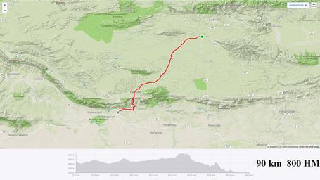 Garden Route Etappe Ladismith bis Swellendam - Karte und Höhenprofil