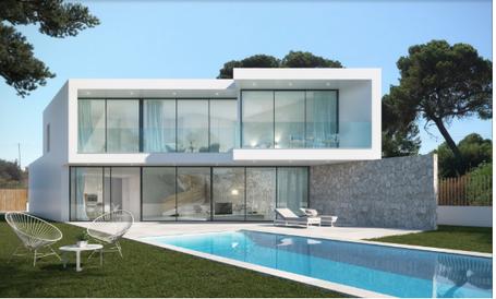 erste Meereslinie Projekt einer Luxusvilla auf Mallorca