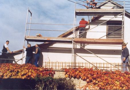"""Mit dem Bau eines Feuerwehrmagazins hatte das """"Zigeunerleben"""" für die Freiwillige Feuerwehr Bärenthal endlich ein Ende"""