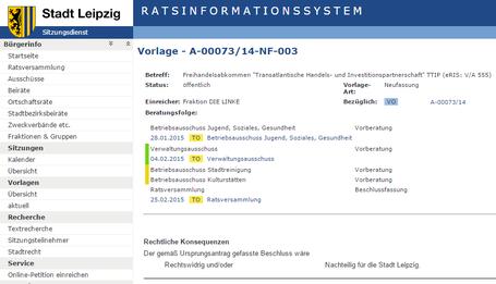 STADT LEIPZIG - RATSINFORMATIONSSYSTEM - Vorlage - A-00073/14-NF-003
