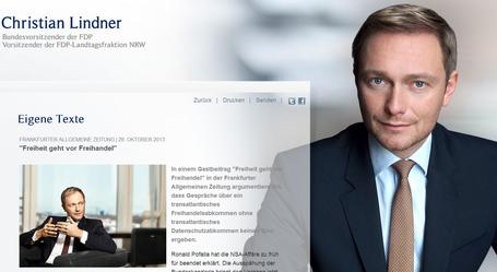 Christian Lindner - Vorsitzender der FDP zu Freihandelsabkommen