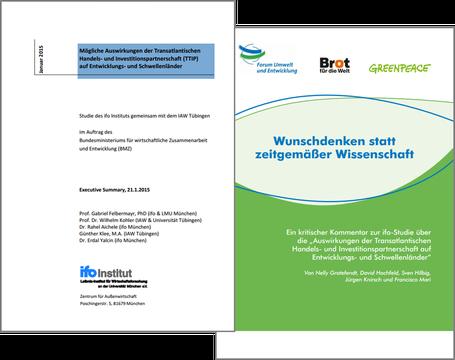 Freihandelsabkommen - IfO-Studie vs. Studie Brot für die Welt / Greenpeace / Forum Umwelt und Entwicklung