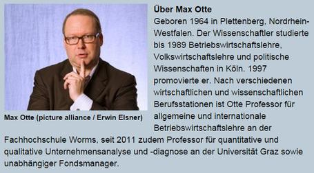 Prof. Dr. Max Otte auf Deutschlandfunk